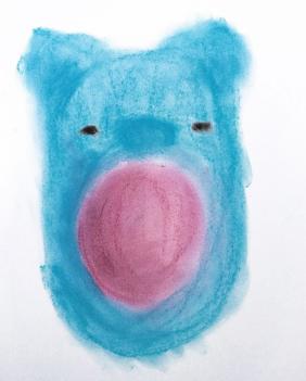 alter blauer Teddybär