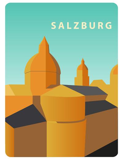 Salzburg an einem Sonnentag
